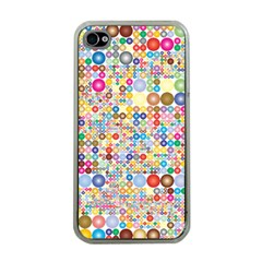 Circle Rainbow Polka Dots Apple Iphone 4 Case (clear) by Mariart