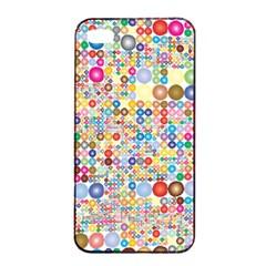 Circle Rainbow Polka Dots Apple Iphone 4/4s Seamless Case (black) by Mariart