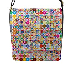 Circle Rainbow Polka Dots Flap Messenger Bag (l)  by Mariart