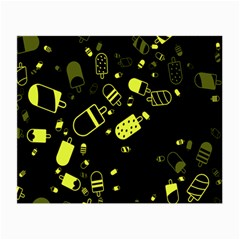 Ice Cream Cool Yellow Small Glasses Cloth (2 Side) by Mariart