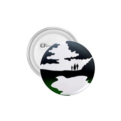 Landscape Silhouette Clipart Kid Abstract Family Natural Green White 1 75  Buttons by Mariart