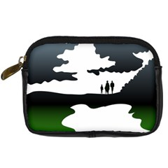 Landscape Silhouette Clipart Kid Abstract Family Natural Green White Digital Camera Cases by Mariart