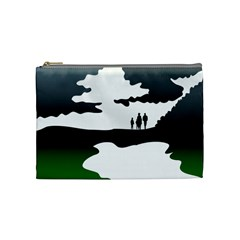 Landscape Silhouette Clipart Kid Abstract Family Natural Green White Cosmetic Bag (medium)  by Mariart