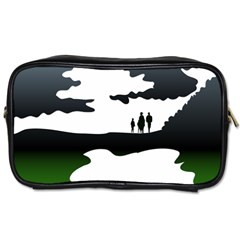 Landscape Silhouette Clipart Kid Abstract Family Natural Green White Toiletries Bags 2 Side by Mariart