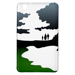 Landscape Silhouette Clipart Kid Abstract Family Natural Green White Samsung Galaxy Tab Pro 8 4 Hardshell Case by Mariart