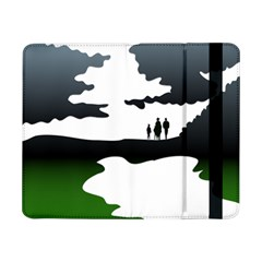 Landscape Silhouette Clipart Kid Abstract Family Natural Green White Samsung Galaxy Tab Pro 8 4  Flip Case by Mariart