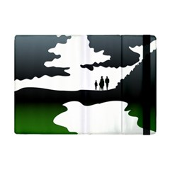 Landscape Silhouette Clipart Kid Abstract Family Natural Green White Ipad Mini 2 Flip Cases by Mariart