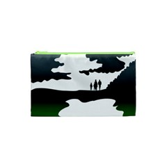 Landscape Silhouette Clipart Kid Abstract Family Natural Green White Cosmetic Bag (xs) by Mariart