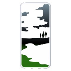 Landscape Silhouette Clipart Kid Abstract Family Natural Green White Samsung Galaxy S8 Plus White Seamless Case by Mariart
