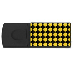 Circles1 Black Marble & Yellow Colored Pencil (r) Rectangular Usb Flash Drive by trendistuff
