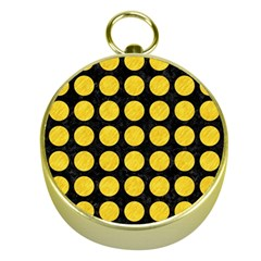 Circles1 Black Marble & Yellow Colored Pencil (r) Gold Compasses by trendistuff