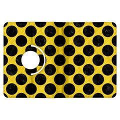 Circles2 Black Marble & Yellow Colored Pencil Kindle Fire Hdx Flip 360 Case by trendistuff