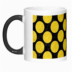 Circles2 Black Marble & Yellow Colored Pencil (r) Morph Mugs by trendistuff