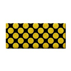 Circles2 Black Marble & Yellow Colored Pencil (r) Cosmetic Storage Cases by trendistuff