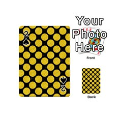 Circles2 Black Marble & Yellow Colored Pencil (r) Playing Cards 54 (mini)  by trendistuff