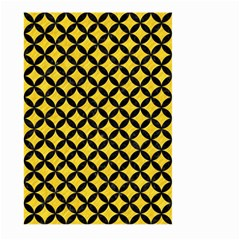 Circles3 Black Marble & Yellow Colored Pencil Large Garden Flag (two Sides) by trendistuff