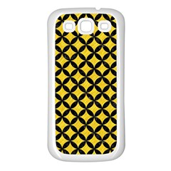 Circles3 Black Marble & Yellow Colored Pencil Samsung Galaxy S3 Back Case (white)