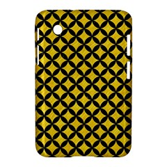 Circles3 Black Marble & Yellow Colored Pencil Samsung Galaxy Tab 2 (7 ) P3100 Hardshell Case