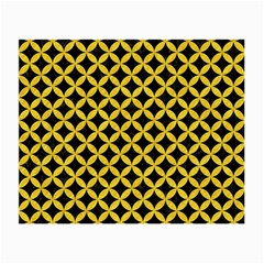 Circles3 Black Marble & Yellow Colored Pencil (r) Small Glasses Cloth (2 Side) by trendistuff