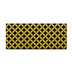 Circles3 Black Marble & Yellow Colored Pencil (r) Cosmetic Storage Cases by trendistuff