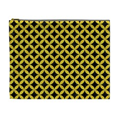 Circles3 Black Marble & Yellow Colored Pencil (r) Cosmetic Bag (xl) by trendistuff