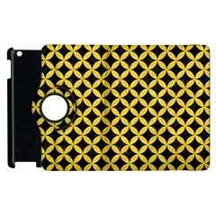 Circles3 Black Marble & Yellow Colored Pencil (r) Apple Ipad 2 Flip 360 Case by trendistuff