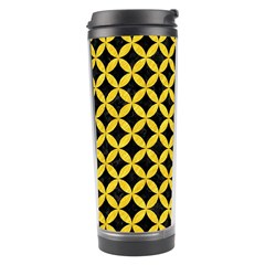 Circles3 Black Marble & Yellow Colored Pencil (r) Travel Tumbler by trendistuff