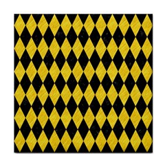 Diamond1 Black Marble & Yellow Colored Pencil Face Towel by trendistuff
