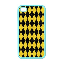 Diamond1 Black Marble & Yellow Colored Pencil Apple Iphone 4 Case (color) by trendistuff