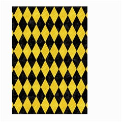 Diamond1 Black Marble & Yellow Colored Pencil Large Garden Flag (two Sides) by trendistuff