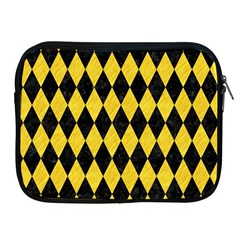 Diamond1 Black Marble & Yellow Colored Pencil Apple Ipad 2/3/4 Zipper Cases by trendistuff