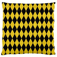 Diamond1 Black Marble & Yellow Colored Pencil Standard Flano Cushion Case (one Side) by trendistuff