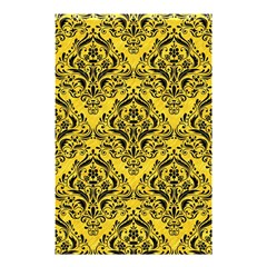 Damask1 Black Marble & Yellow Colored Pencil Shower Curtain 48  X 72  (small)  by trendistuff