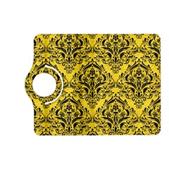 Damask1 Black Marble & Yellow Colored Pencil Kindle Fire Hd (2013) Flip 360 Case by trendistuff