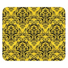 Damask1 Black Marble & Yellow Colored Pencil Double Sided Flano Blanket (small)  by trendistuff