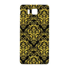 Damask1 Black Marble & Yellow Colored Pencil (r) Samsung Galaxy Alpha Hardshell Back Case by trendistuff