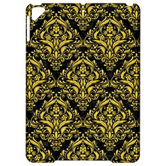 Damask1 Black Marble & Yellow Colored Pencil (r) Apple Ipad Pro 9 7   Hardshell Case by trendistuff