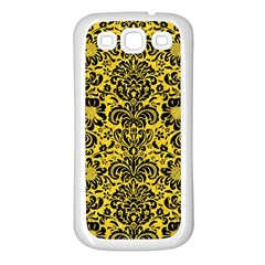 Damask2 Black Marble & Yellow Colored Pencil Samsung Galaxy S3 Back Case (white)