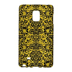 Damask2 Black Marble & Yellow Colored Pencil Galaxy Note Edge by trendistuff