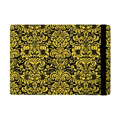 Damask2 Black Marble & Yellow Colored Pencil (r) Apple Ipad Mini Flip Case by trendistuff