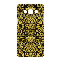 Damask2 Black Marble & Yellow Colored Pencil (r) Samsung Galaxy A5 Hardshell Case  by trendistuff