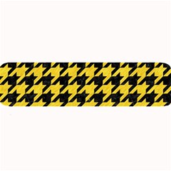 Houndstooth1 Black Marble & Yellow Colored Pencil Large Bar Mats by trendistuff