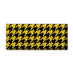 Houndstooth1 Black Marble & Yellow Colored Pencil Cosmetic Storage Cases by trendistuff