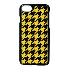 Houndstooth1 Black Marble & Yellow Colored Pencil Apple Iphone 7 Seamless Case (black) by trendistuff