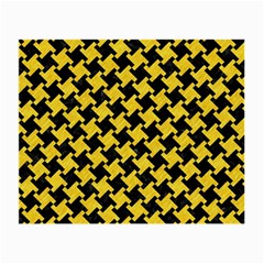 Houndstooth2 Black Marble & Yellow Colored Pencil Small Glasses Cloth by trendistuff