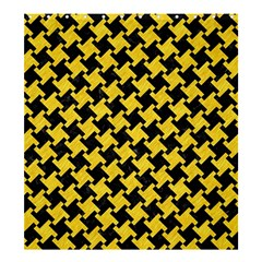 Houndstooth2 Black Marble & Yellow Colored Pencil Shower Curtain 66  X 72  (large)  by trendistuff