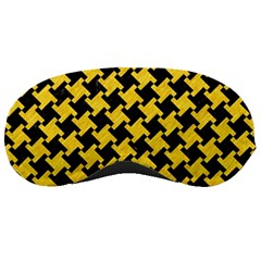 Houndstooth2 Black Marble & Yellow Colored Pencil Sleeping Masks by trendistuff