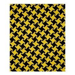 Houndstooth2 Black Marble & Yellow Colored Pencil Shower Curtain 60  X 72  (medium)  by trendistuff