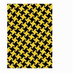 Houndstooth2 Black Marble & Yellow Colored Pencil Large Garden Flag (two Sides) by trendistuff