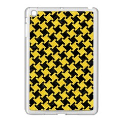 Houndstooth2 Black Marble & Yellow Colored Pencil Apple Ipad Mini Case (white) by trendistuff